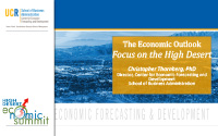 The Economic Outlook: Focus on The High Desert