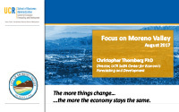 The Economic Outlook: Focus on Moreno Valley