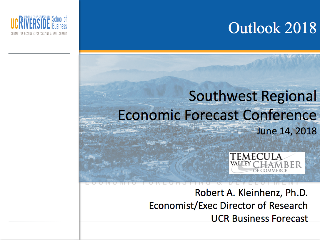 2018 Southwest Regional Economic Forecast